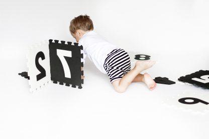 Speel Foam Mat Zwart Wit Met Cijfers
