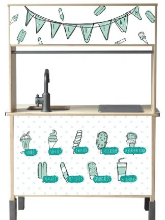 Zoiezo Kids Concept Stickerset IJsjes Blauw