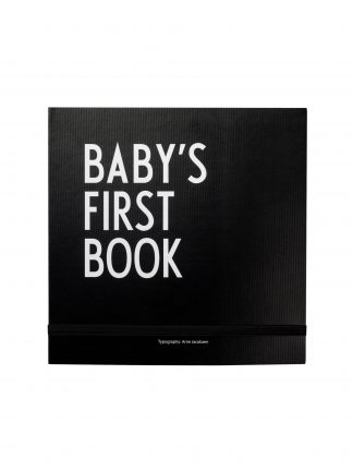 Design Letters Baby's First Book Zwart