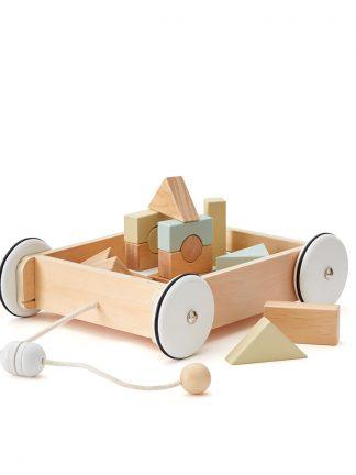 Kid's Concept Houten Wagen Met Blokken NEO