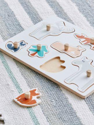 Kid's Concept Houten Dierenpuzzel Edvin