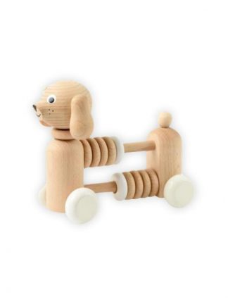Sarah and Bendrix - Bartholomew - Wooden Dog Counter : Rattle