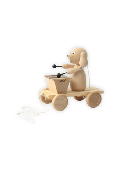 Sarah and Bendrix - Montgomery - Pull Along Wooden Dog with Xylophone
