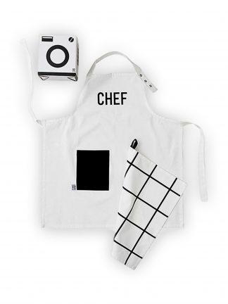 Design letters Kids Apron & Tea Towel Set