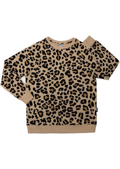 Cribstar – Beige Leopard Sweatshirt Volwassenen