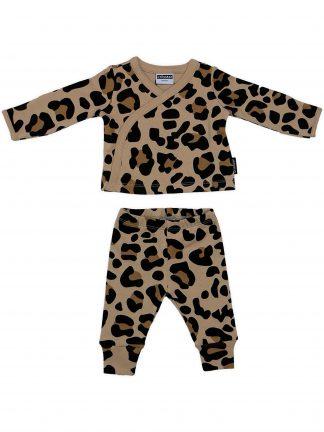 Cribstar - Beige Leopard Kimono Set