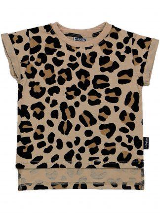 Cribstar - Beige Leopard t-shirt