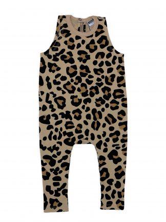 Cribstar - Beige Leopard Harem Romper