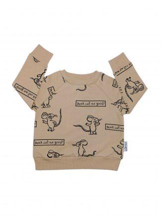Cribstar - Beige Mouse Sweatshirt